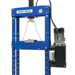 Broaching press machine front view