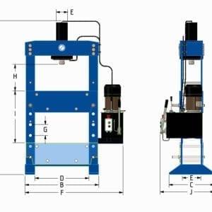 100 Ton Workshop Press • Motorised/Manual modes • Moveable Cylinder • 2 Speeds •