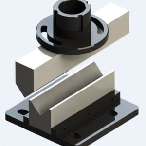 Sheet bending tool top view