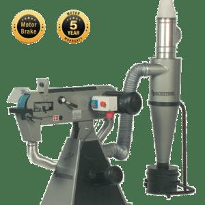 Belt grinder for aluminium