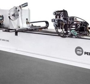 the BEND MASTER 38 which is a double-headed bending machine designed to suit bending requirements within the Automotive, Indoor Furniture, Outdoor Furniture, Healthcare and Retail industries with applications requiring the most stringent requirements of accuracy, reliability, flexibility, and speed.